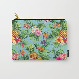 Bright Blue Tropical Carry-All Pouch