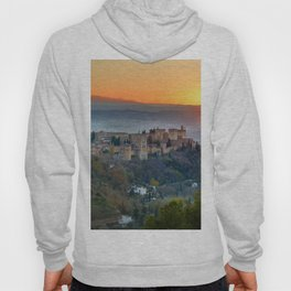 Red sunset at The Alhambra Palace Hoody