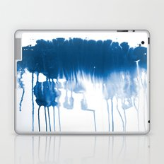 Paint 1 - indigo blue drip abstract painting modern minimal trendy home decor dorm college art Laptop & iPad Skin