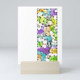 the pieces of the future Mini Art Print