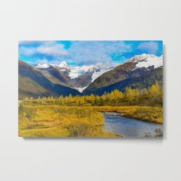 Autumn in Portage Valley - Alaska Metal Print
