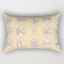 Endangered Love - Sloth Sutra Rectangular Pillow