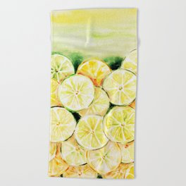 Limes and lemons Beach Towel