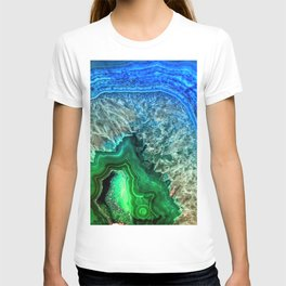 Turquoise Green Agate Mineral Gemstone T-shirt