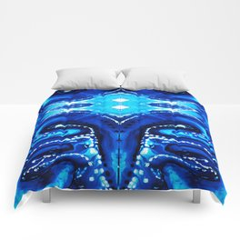 Blue Abstract Art - Big Blue - By Sharon Cummings Comforters