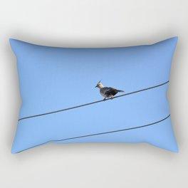 Crested Pigeon Rectangular Pillow