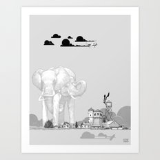 Store Toxic Waste at Home Art Print
