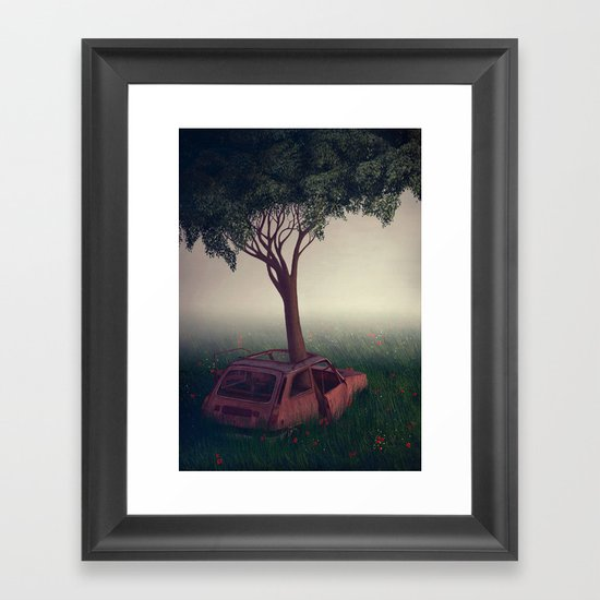 I Lied Framed Art Print