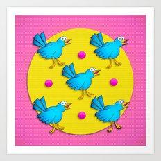 Happy Birds Art Print