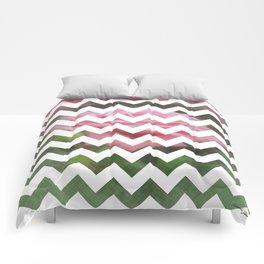 Pink Roses in Anzures 3 Chevron 3T Comforters