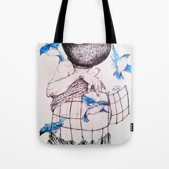 Human flight Tote Bag