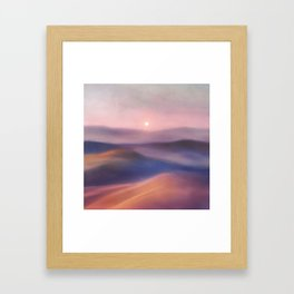 Minimal abstract landscape II Framed Art Print
