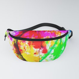 ferris wheel in the city at Las Vegas, USA with colorful painting abstract background Fanny Pack