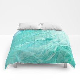 Azure marble Comforters