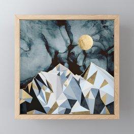 Midnight Peaks Framed Mini Art Print