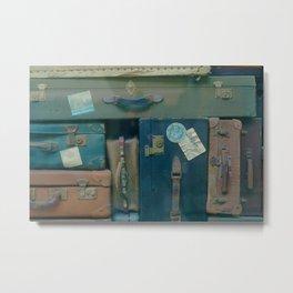 Vintage Suitcases (Color) Metal Print