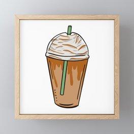 caramel frappe pop art Framed Mini Art Print