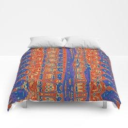 Wrinkly Batik Blue Red Mix 1 Comforters
