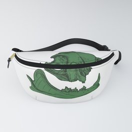 Cat Skull 7 (army/olive green) Fanny Pack