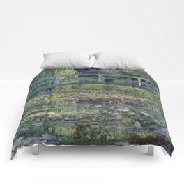 Water Lilies and the Japanese Bridge by Claude Monet Comforters