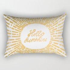 Hello Sunshine Gold Rectangular Pillow