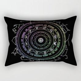 Astrological Magic Circle Rectangular Pillow