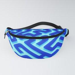 Maze Blue Fanny Pack