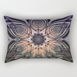 Dramatic transformation mandala Rectangular Pillow