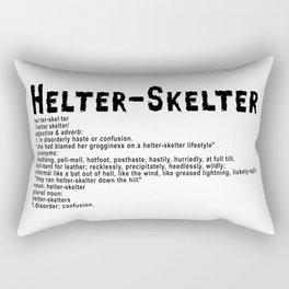 Helter Skelter (black on white) Rectangular Pillow