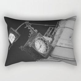 Via de martelli clock and light in Firenze street tuscany italy Rectangular Pillow