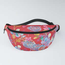 Fridas Flowers in Red Fanny Pack