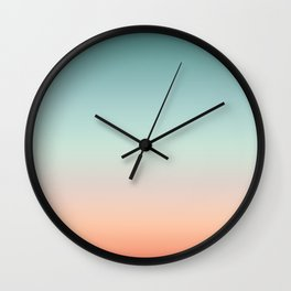 Color gradient background - fading sunset sky colors Wall Clock