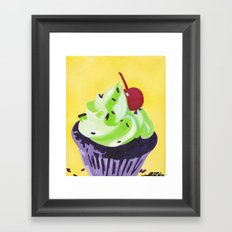 Green Cupcake Framed Art Print
