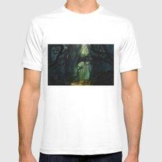 Dark Forest (VACANCY zine) MEDIUM White Mens Fitted Tee