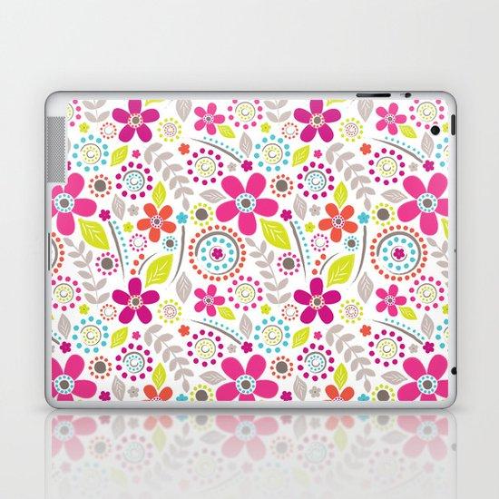 Inky Floral Laptop & iPad Skin