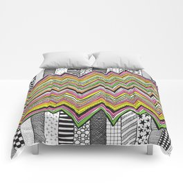 Stripes and Zig Zags Comforters