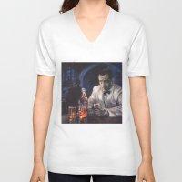 casablanca V-neck T-shirts featuring Casablanca by Miquel Cazanya