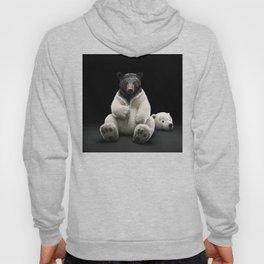 Black bear wearing polar bear costume Hoody