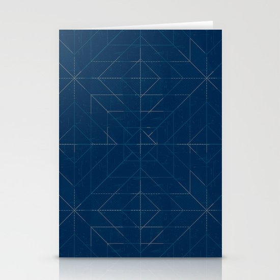 Geometric Lines Stationery Cards