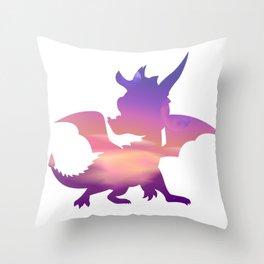Spyro Lofty Castle Skybox Throw Pillow