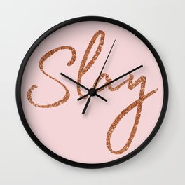 Slay in Rose Gold and Pink Wall Clock
