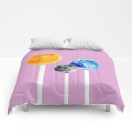 SUN MOON EARTH LOLLIPOPS Comforters