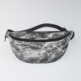 Black and white waves Fanny Pack