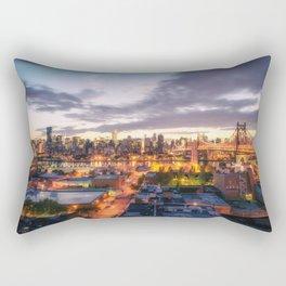 New York City Skyline - Evening Rectangular Pillow