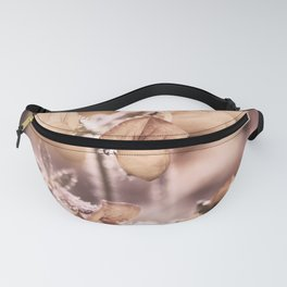 Wildflowers in pastel and camel tones Fanny Pack