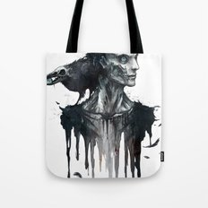 Zombie and Crow Tote Bag