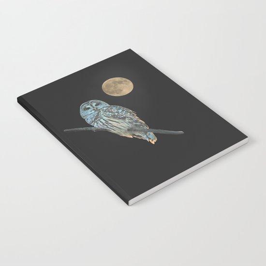 Owl, See the Moon (sq Barred Owl) by nancyacarter