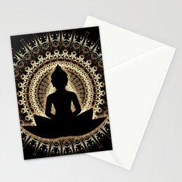 Meditating buddha Art Stationery Cards