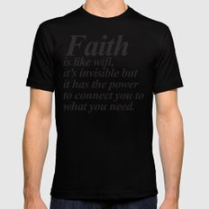 Faith. LARGE Mens Fitted Tee Black