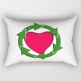 Recycle In Heart Rectangular Pillow